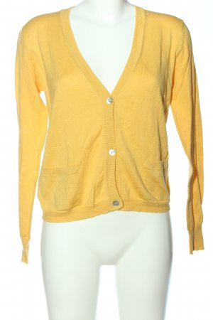 Mango Strick Cardigan blassgelb Casual-Look