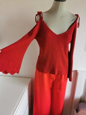 Mango strick  pullover cut out shoulder und weitem ärmel