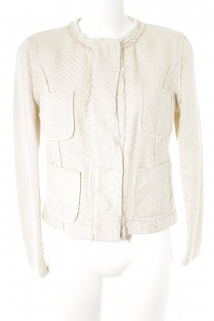 Mango Strickblazer creme Business-Look