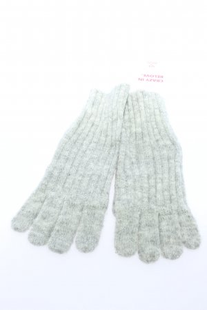 Mango Knitted Gloves light grey casual look