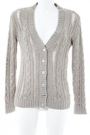 Mango Strickjacke beige Casual-Look