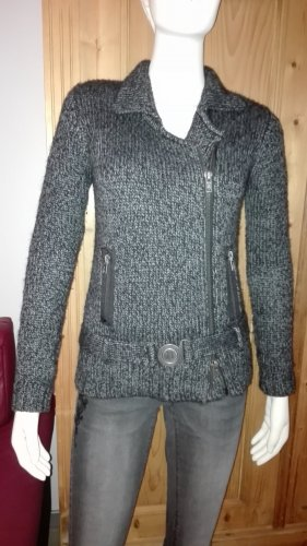 Mango collection Coarse Knitted Jacket dark grey-anthracite