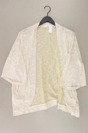 Mango Strickjacke Größe M 3/4 Ärmel creme aus Polyester