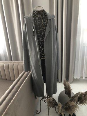 Mango Cardigan en crochet gris clair