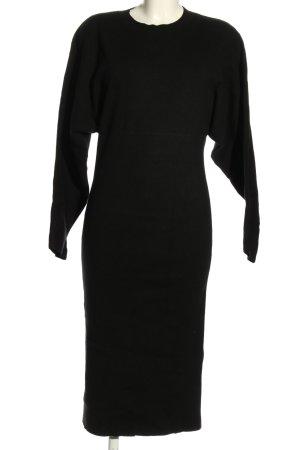 Mango Sukienka z dzianiny czarny W stylu casual