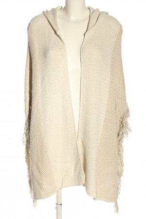 Mango Knitted Poncho natural white casual look