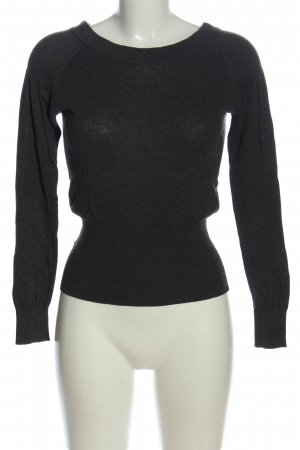 Mango Knitted Sweater black flecked casual look