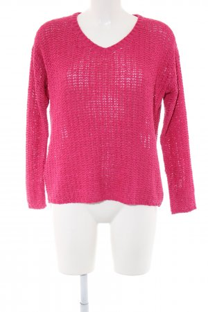 Mango Strickpullover pink Casual-Look