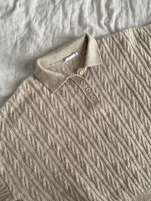Mango Pull tricoté beige