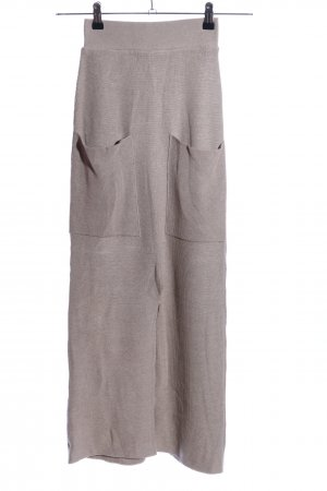 Mango Knitted Skirt cream casual look