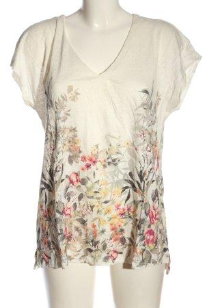 Mango Strickshirt Blumenmuster Casual-Look