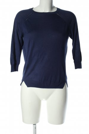 Mango Strickshirt blau Casual-Look