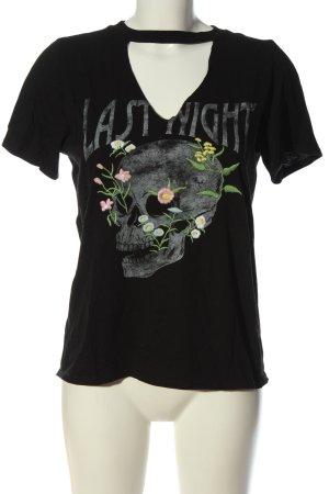 Mango Strickshirt Motivdruck Casual-Look