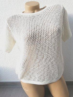 Mango T-shirts en mailles tricotées blanc-blanc cassé