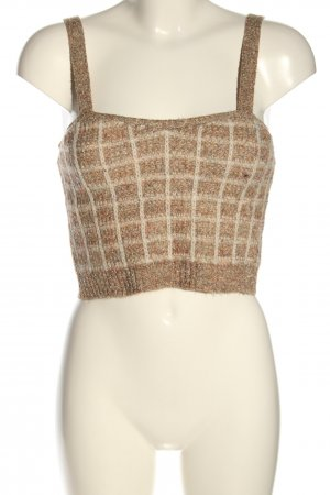 Mango Knitted Top brown-cream allover print casual look