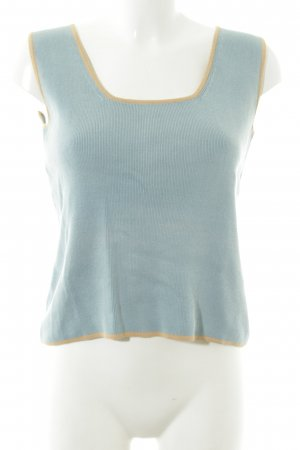 Mango Knitted Top blue-light orange casual look