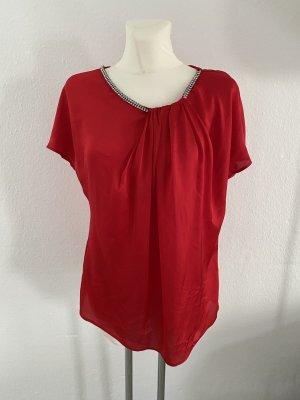 Mango Połyskująca bluzka ciemnoczerwony-ceglasty