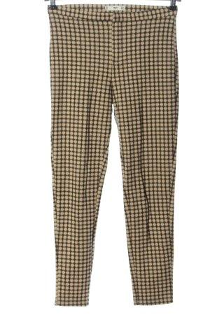 Mango Suit 7/8-Hose creme-schwarz Allover-Druck Casual-Look