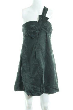 Mango Suit A-Linien Kleid dunkelgrün Elegant