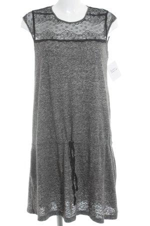 Mango Suit A-Linien Kleid grau-schwarz meliert Casual-Look