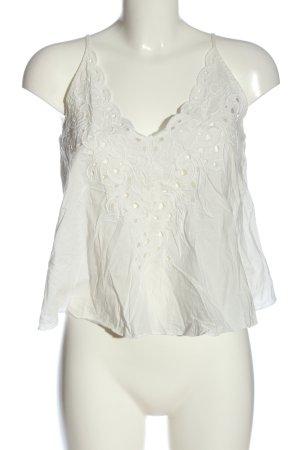 Mango Suit A-Linien Top weiß Casual-Look