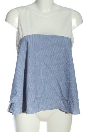 Mango Suit Top o kroju litery A biały-niebieski Wzór w paski W stylu casual