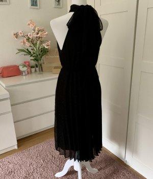 Mango Sukienka z dekoltem typu halter czarny-srebrny