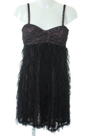 Mango Suit Abendkleid schwarz-blasslila Party-Look