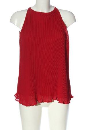 Mango Suit ärmellose Bluse rot Casual-Look