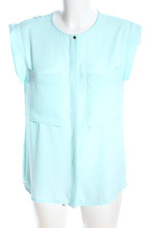 Mango Suit ärmellose Bluse türkis Casual-Look