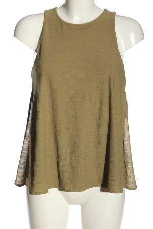Mango Suit ärmellose Bluse khaki Business-Look