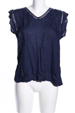 Mango Suit ärmellose Bluse blau Casual-Look