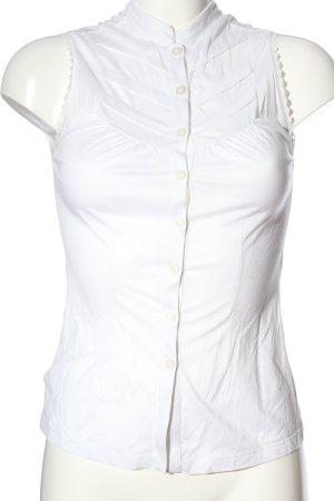 Mango Suit ärmellose Bluse weiß Casual-Look