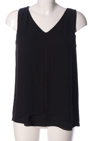 Mango Suit ärmellose Bluse schwarz Casual-Look