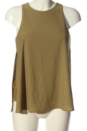 Mango Suit ärmellose Bluse braun Casual-Look