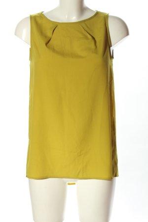 Mango Suit ärmellose Bluse blassgelb Casual-Look