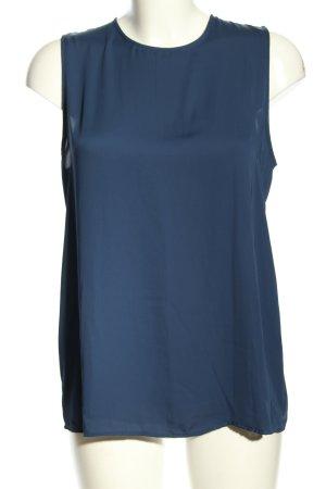 Mango Suit ärmellose Bluse blau Business-Look