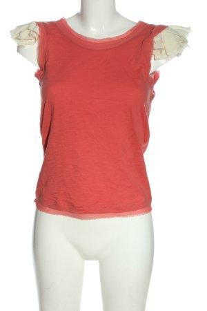 Mango Suit ärmellose Bluse hellorange-wollweiß Casual-Look