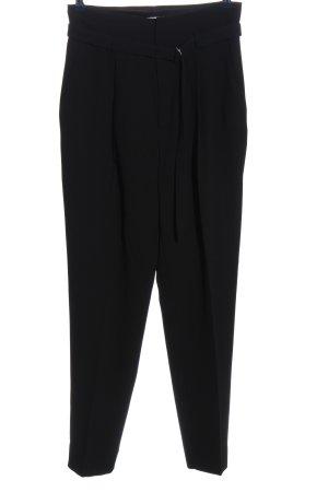 Mango Suit Spodnie garniturowe czarny W stylu biznesowym
