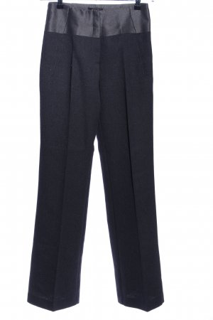 Mango Suit Pantalón de vestir negro Patrón de tejido estilo «business»