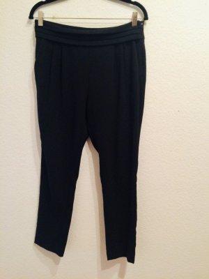 Mango Suit Anzugshose schwarz mit Bundfalten und Kummerbund, Gr. 36