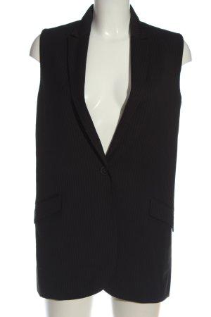 Mango Suit Anzugweste schwarz-hellgrau Streifenmuster Business-Look