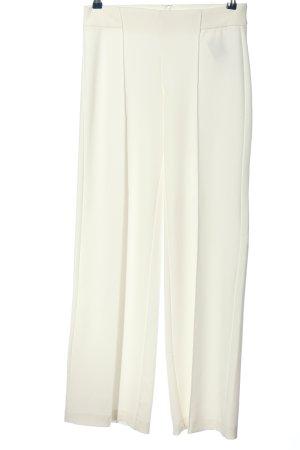 Mango Suit Luźne spodnie biały W stylu biznesowym