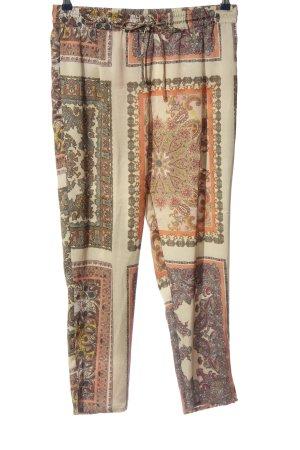 Mango Suit Baggy Pants abstraktes Muster Casual-Look