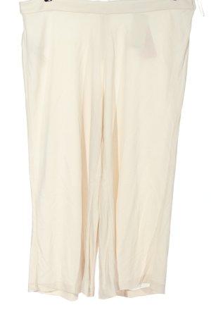 Mango Suit Luźne spodnie w kolorze białej wełny Elegancki
