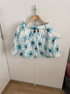 Mango Suit Balonowa spódniczka biały-niebieski