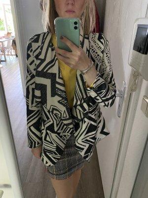 Mango Suit Blazer en tweed noir-blanc