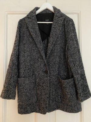 Mango Suit Wool Jacket natural white-black polyester