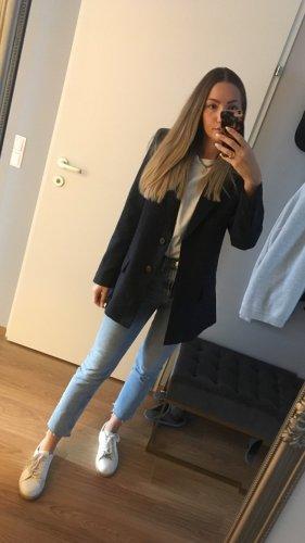 Mango Suit Blazer Karo Nachtblau XS