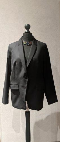 Mango Suit Blazer Longblazer oversize schwarz Größe XL